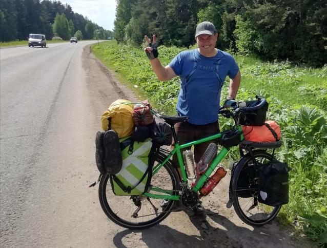Фото 5000 км на велосипеде и встреча с медведем: путешественник вернулся с Байкала в Киров