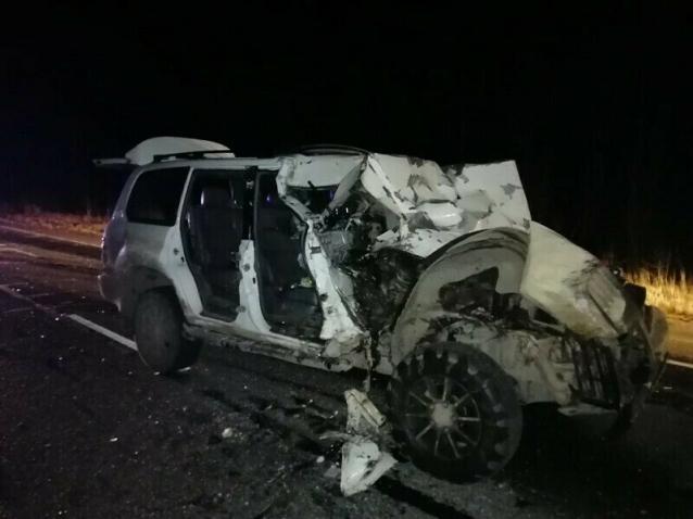 Фото Два человека пострадали в результате столкновения Лэнд Крузера с КАМАЗом на трассе Сыктывкар-Ухта