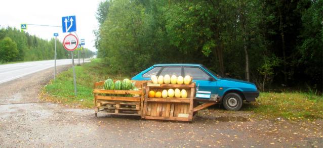 Фото Житель Кирова незаконно торговал арбузами на Советском тракте