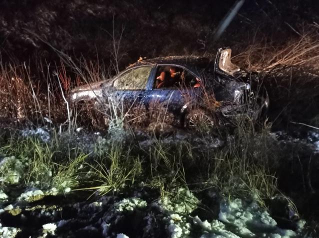 Фото В Сосногорском районе иномарка опрокинулась в болото: погиб водитель