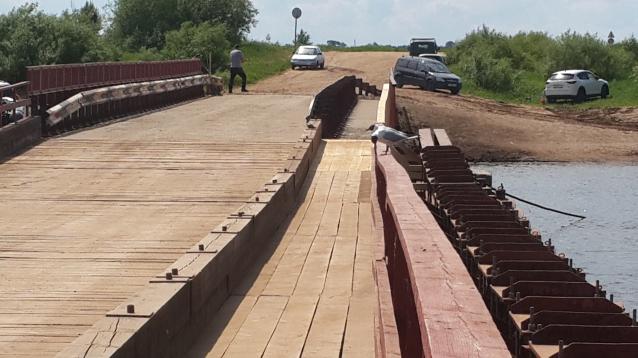Фото В Кирово-Чепецке открыли движение по наплавному мосту через Чепцу