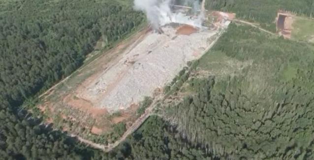 Фото В Лубягино на полигоне ТКО ликвидировано открытое горение