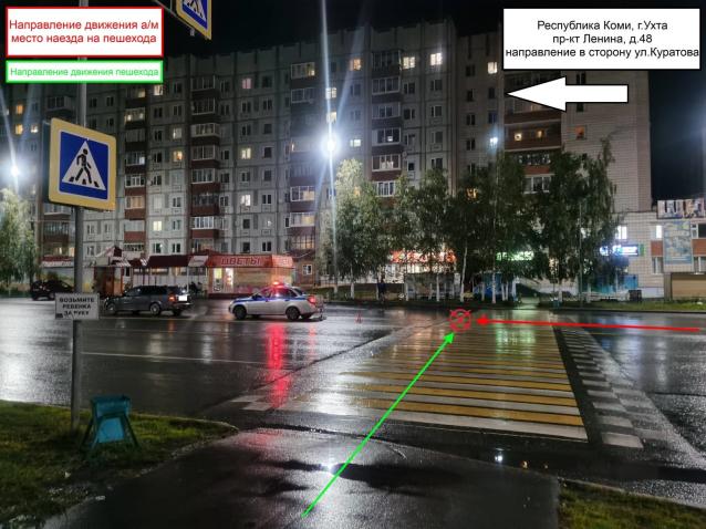 Фото В Ухте на проспекте Ленина сбили пешехода