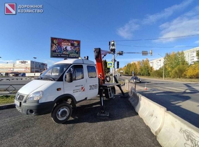 Фото В Сыктывкаре на малой объездной у ТЦ «Макси» установили светофор