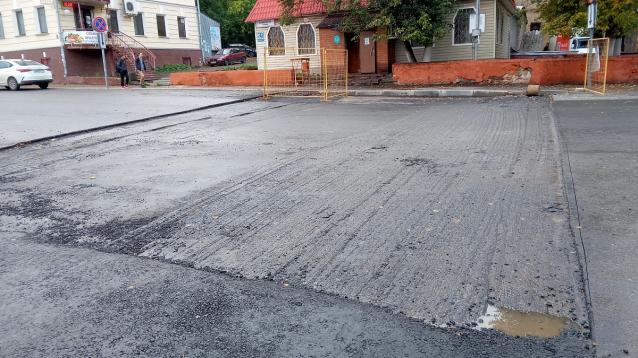Фото В Кирове подрядчик не сдал «экзамен» по восстановлению дороги после раскопок
