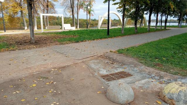 Фото В Нововятске на набережной Пушкарёва обустроили водоотведение