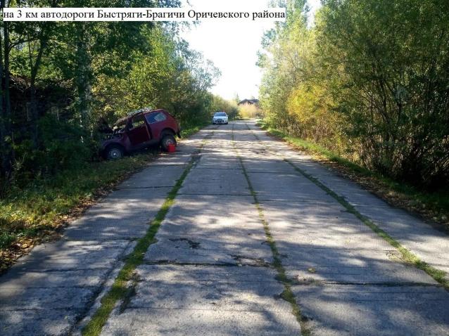 Фото В Оричевском районе автомобиль вылетел в кювет и врезался в дерево