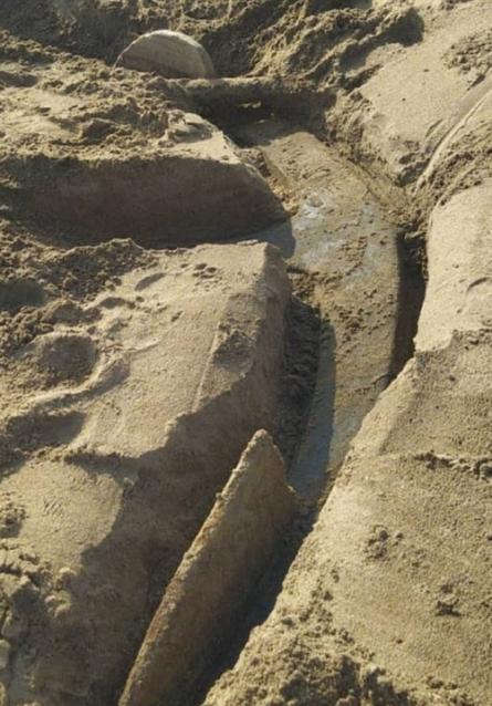 Фото В Кирове на берегу Вятки нашли 2-тонный якорь-великан